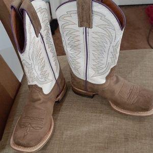 Kids Justin square toe boots